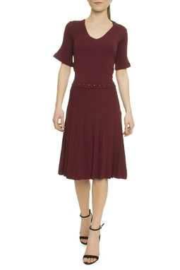 Vestido Saia Plissada - I19C4VT14