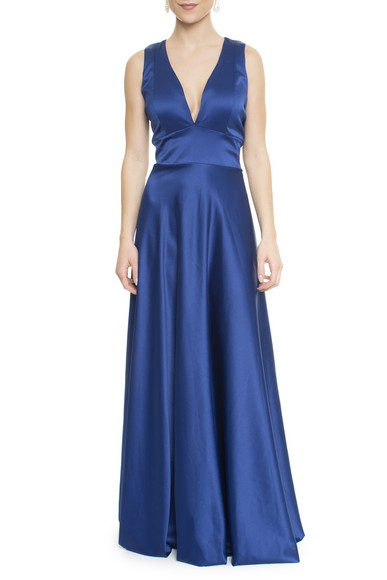Vestido Samira Blue Basic Collection