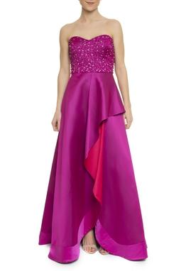 Vestido Saron Bordado - DG17220