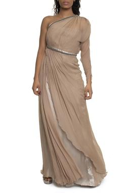 Vestido Seda Nude - DG14757