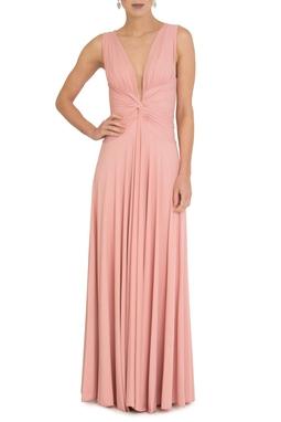 Vestido Sibila V Rose Queimado