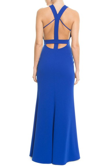 Vestido Soma Blue Badgley Mischka