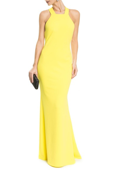 Vestido Soma Yellow Badgley Mischka