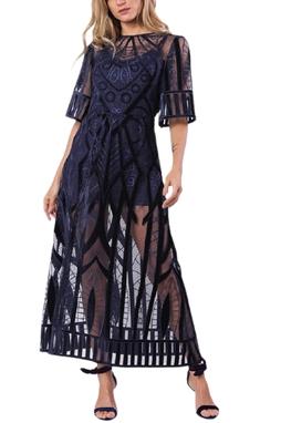 Vestido Surya Midi Marinho - DG13269