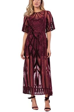 Vestido Surya Midi Marsala