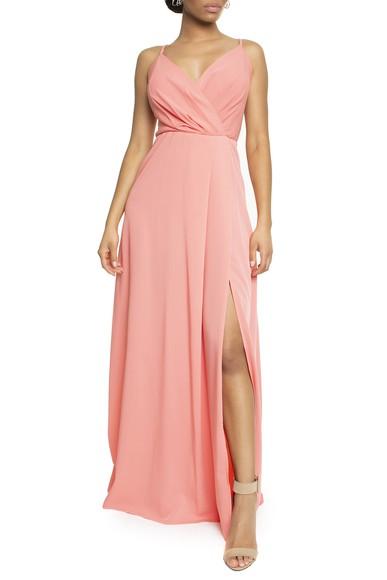 Vestido Tayba Coral Basic Collection