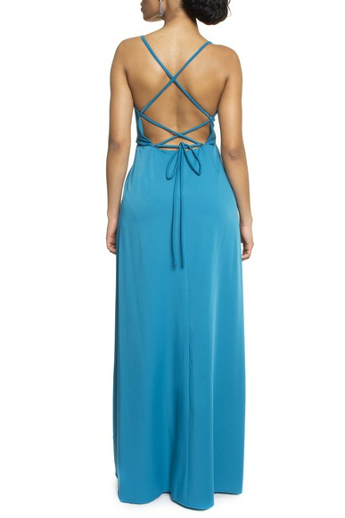 Vestido Tayba Petroleo Basic Collection
