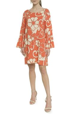 Vestido Tecido Leve Estampado - DG18000