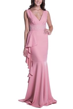 Vestido Tioli Nude CLM - DG13215