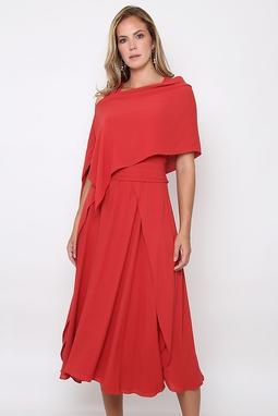 Vestido Transpasse Solto Vermelho
