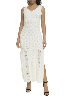 Vestido Tricot Branco - DG18013