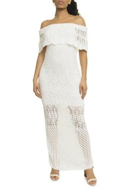 Vestido Tricot Branco Longo - Curadoria Dress & Go