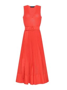 Vestido Tricot Evasê - Vermelho  USTL