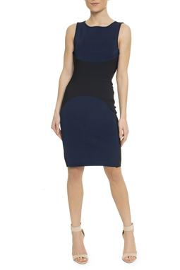 Vestido Tricot Neoprene Azul Marinho - DG17049