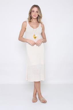 Vestido Trt Decote V Midi Branco