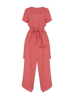 Vestido TShirt Origami Era - Rosa Marsala  USTL