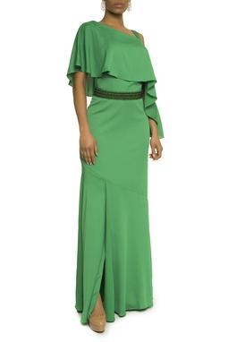 Vestido Verde Cinto Bordado - DG17629