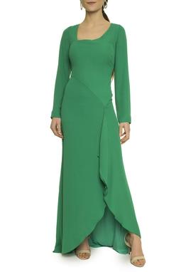 Vestido Verde Manga Longa - DG17630
