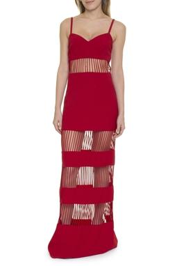 Vestido Vermelho Recortes - DG15439