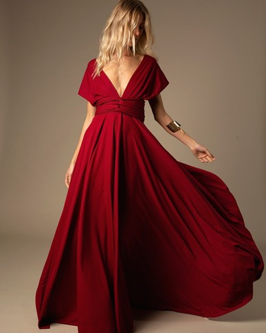 Vestido Versátil Marsala THM Thiago Mendonça