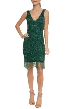 Vestido Vidrilhos Verdes - DG13718