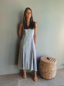 Vestido Virginia Cinza