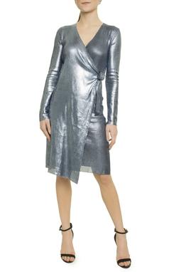 Vestido Wrap Degrade Foil - O20C4VT008