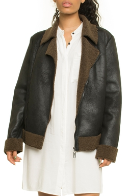 Vintage Suede Fur Perfecto Cut Pockets - 50I1131