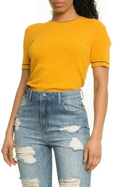 Viscose Rib Basic T-Shirt Yellow - 50H170