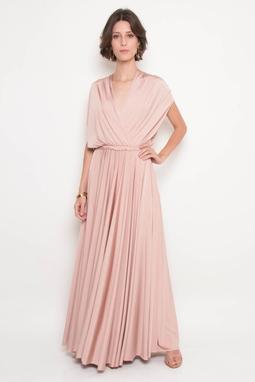 Vestido Longo Transpassado Rose