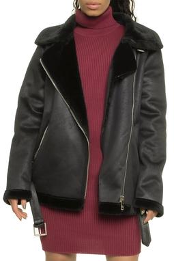 Washed Suede Bonded Fur Jacket - 48I1051