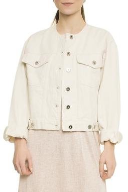 White Denim Vintage Cut EtCouro - 51I1665