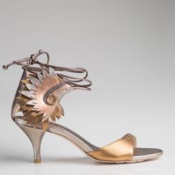 Sandália Cocar Ouro
