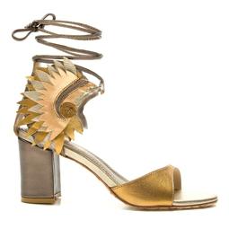 Sandália Cocar Ouro Velho