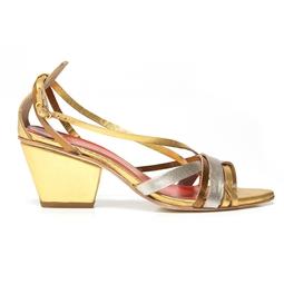 Sandália Chris Francini Dourada