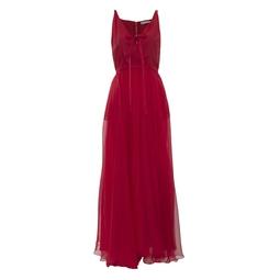 Vestido Longo Organza Vermelho KS