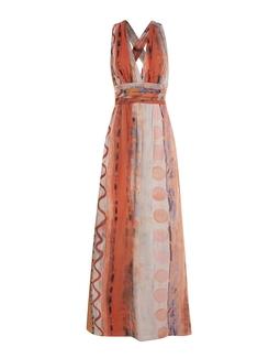 Vestido Amalia Estampado Laranja KS