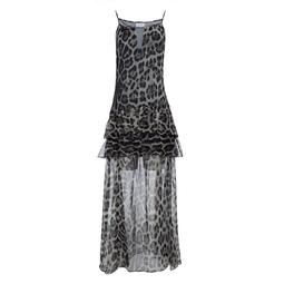 Vestido Leopard Cinza