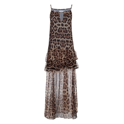 Vestido Leopard Marrom