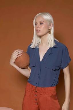 Camisa Cometa Azul