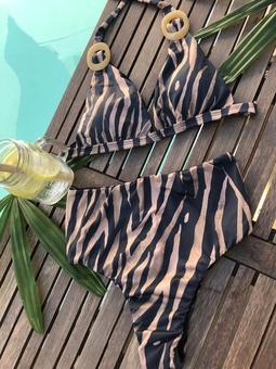 Conjunto Biquini Hot Pants Zebra