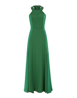Vestido Longo Recortes  Verde KS
