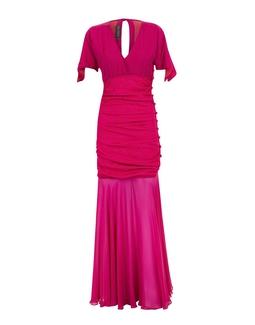 Vestido Franzido  Rosa  KS