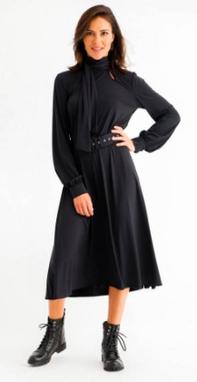 Vestido Midi Luana Preto