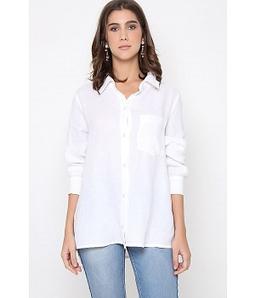 Camisa Cambraia De Linho Branca