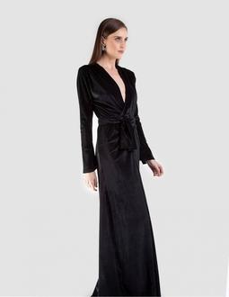 Vestido Veludo Cotelê - Preto Areaoito