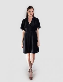 Vestido Veludo Texturizado - Preto Areaoito