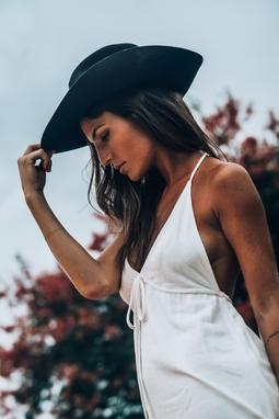 Vestido offwhite Frente Unica