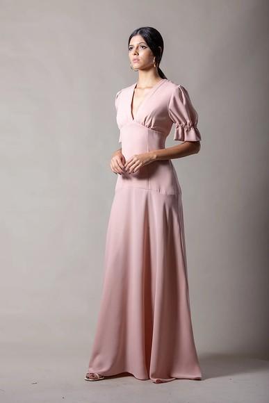 Vestido Bone Rosa Thiago Mendonça