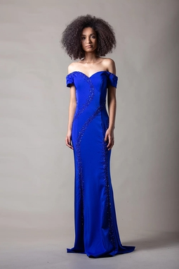 Vestido Carla Azul